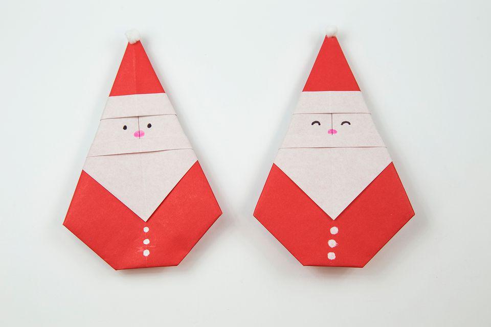 4 DIY Cute Origami Santa
