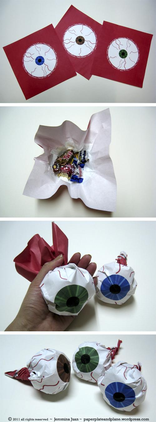 5 Eyeball Paper Packages