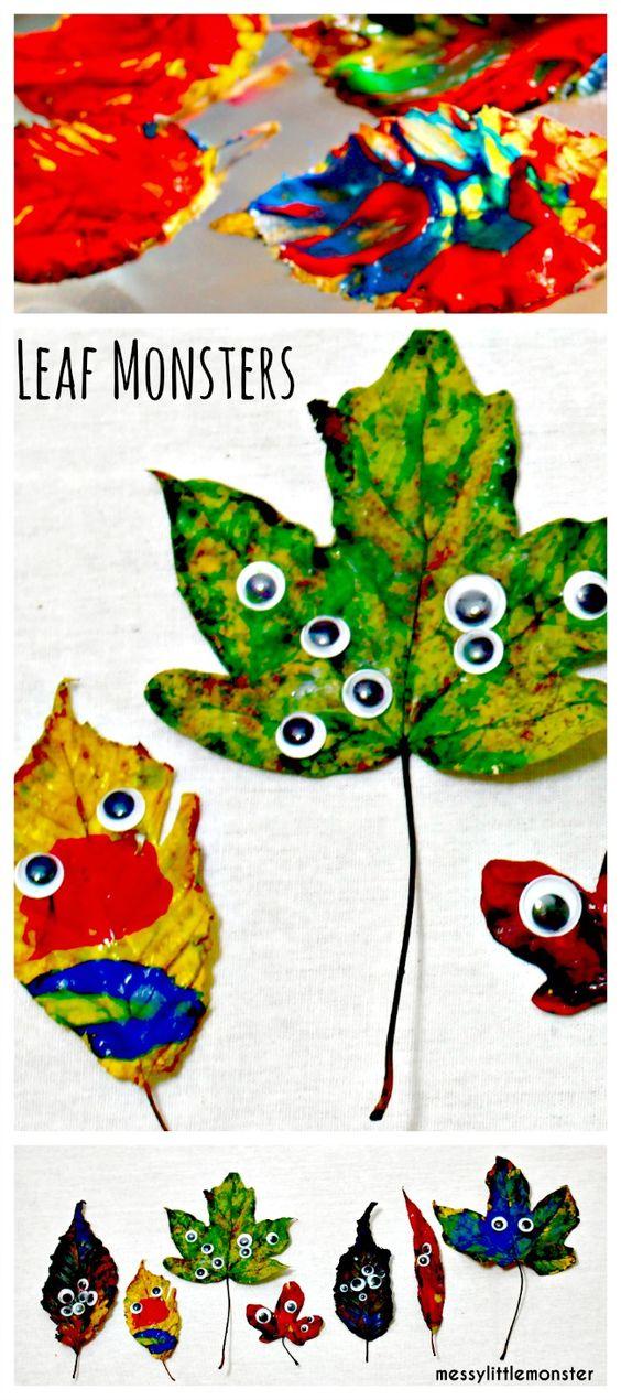6 Painted Leaf Monsters