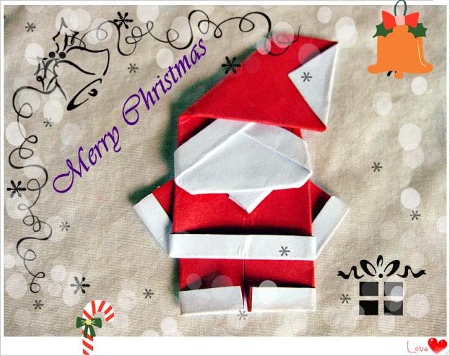 7 DIY paper Santa Claus