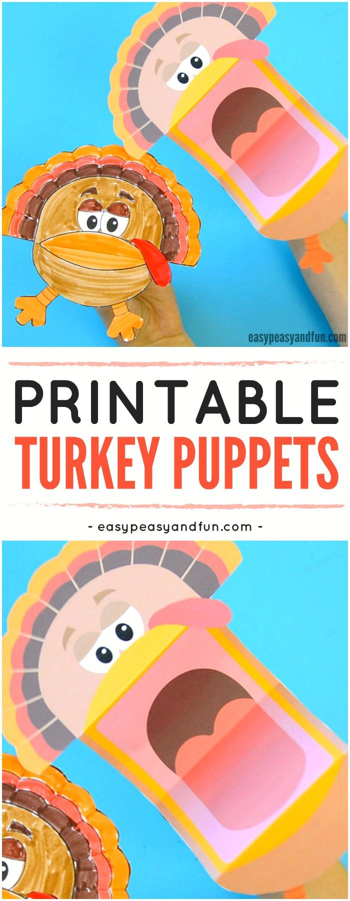 7 Printable Turkey Puppets
