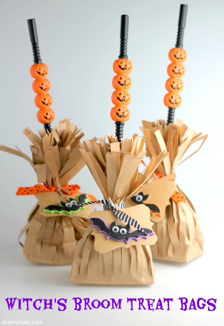 7 Witchs Broom Treat Bags