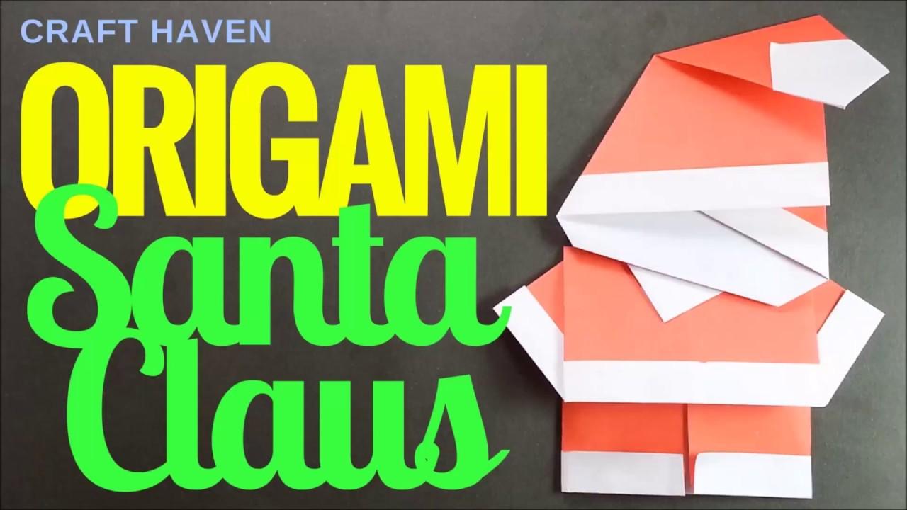 8 Christmas Origami Santa Claus