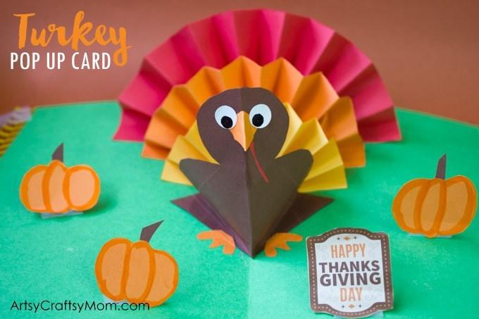 8 THANKSGIVING TURKEY POP UP CARD
