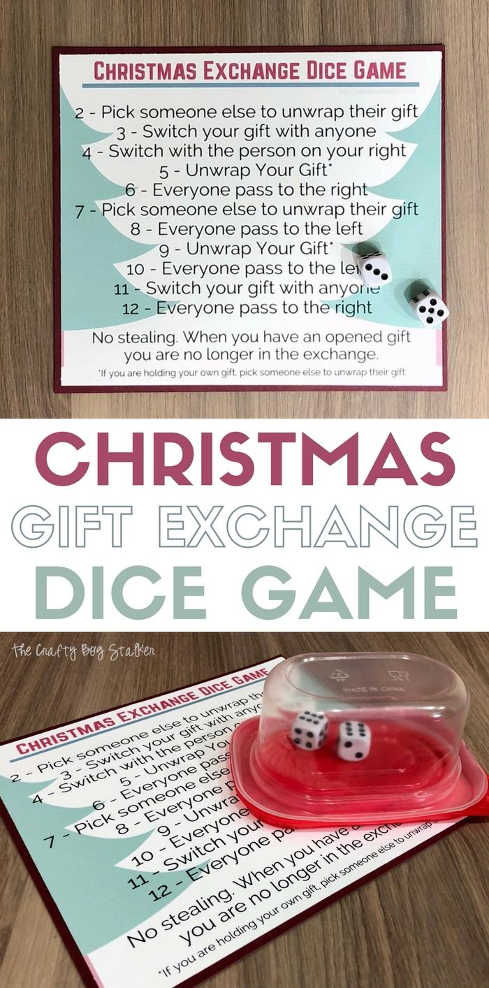 10 Christmas Gift Exchange Dice Game