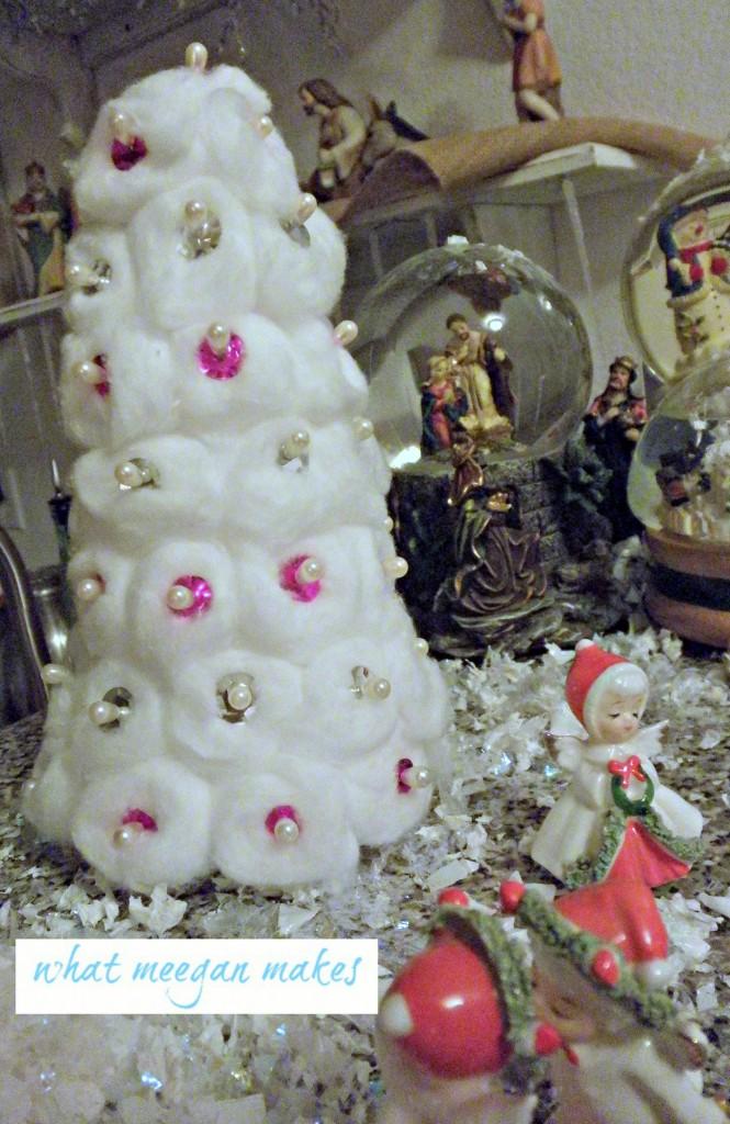 11 Cotton Ball Christmas Trees