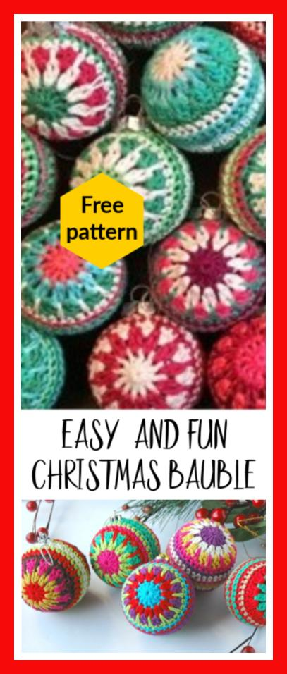 11 Crocheted Christmas Bauble Ornaments