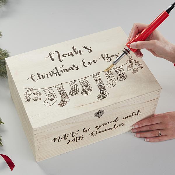 11 Pyrography Christmas Eve Box
