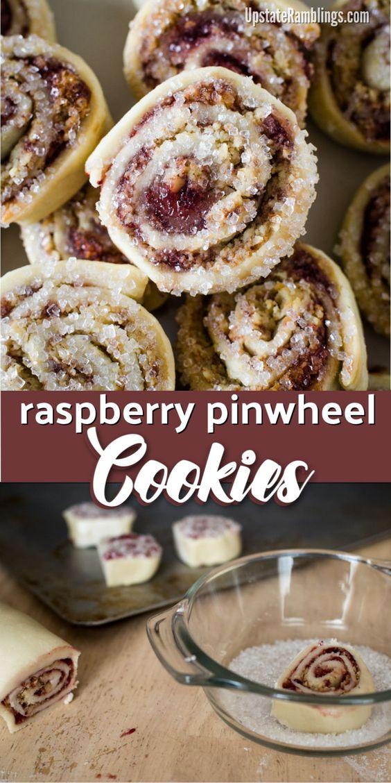 12 Raspberry Pinwheel Cookies