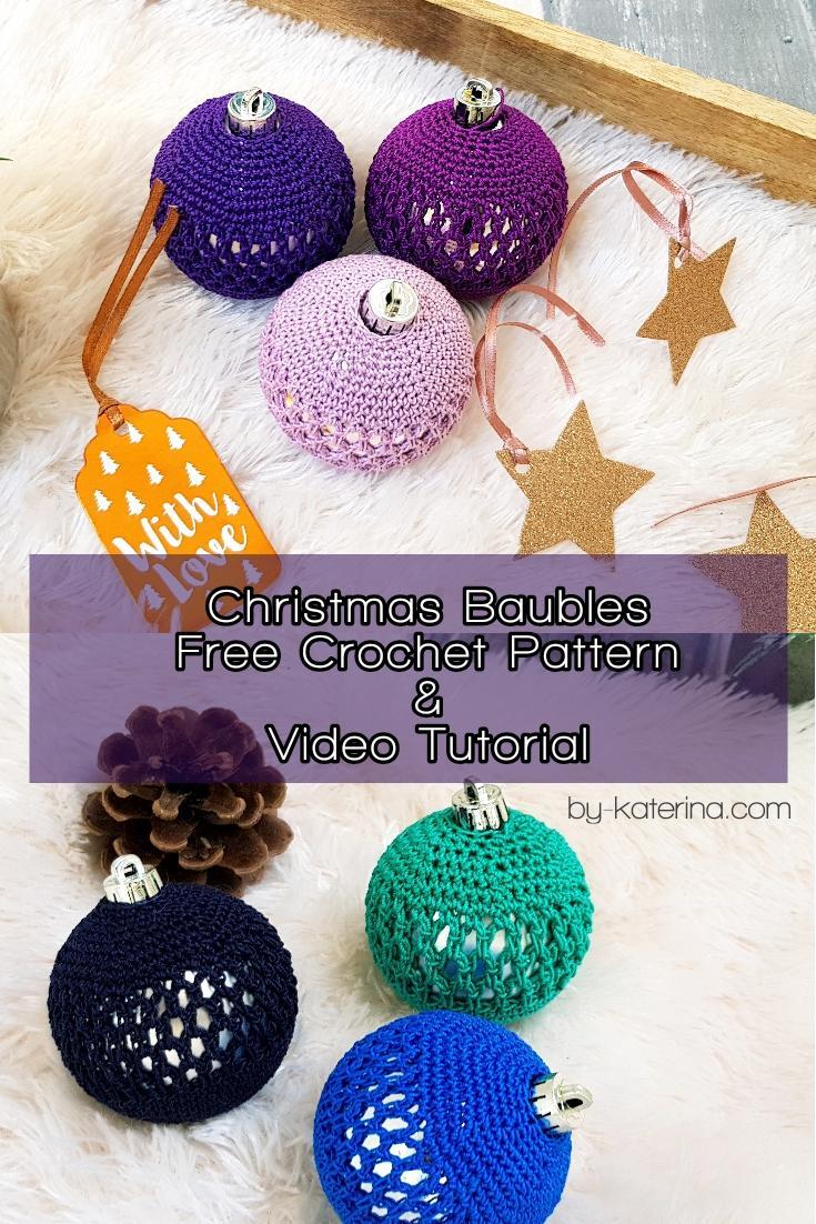 14 Christmas Baubles Free Crochet Pattern