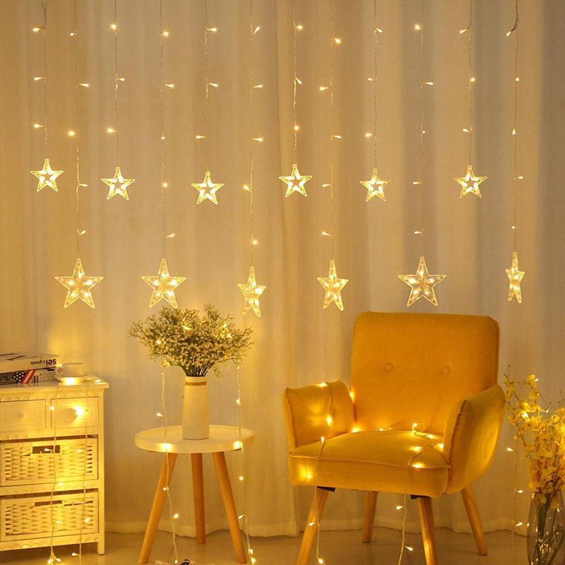 14 Star Curtain Lights