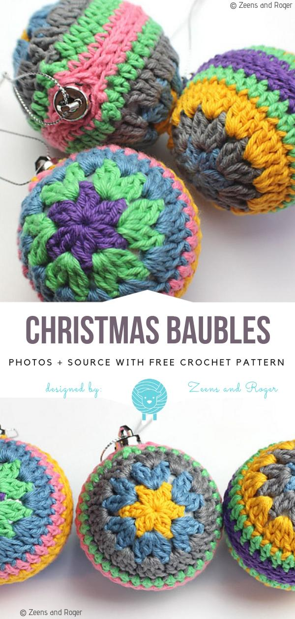 15 Crochet Christmas Bauble