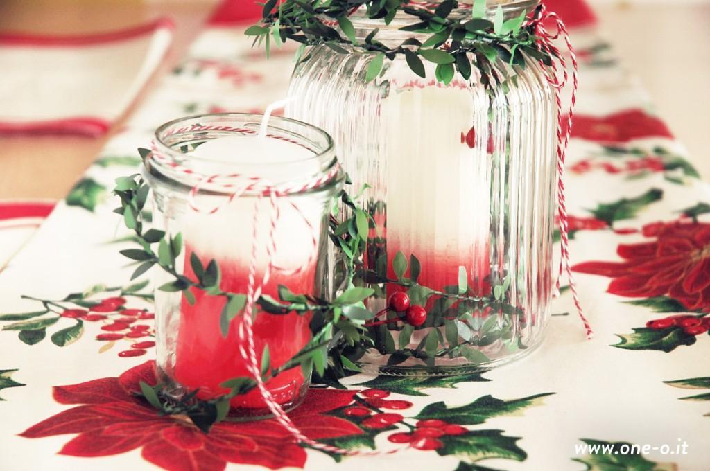 15 DIY ombre candles Christmas centerpiece