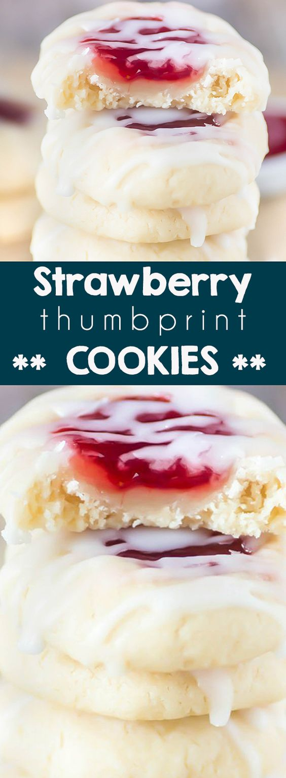 16 Strawberry Thumbprint Cookies