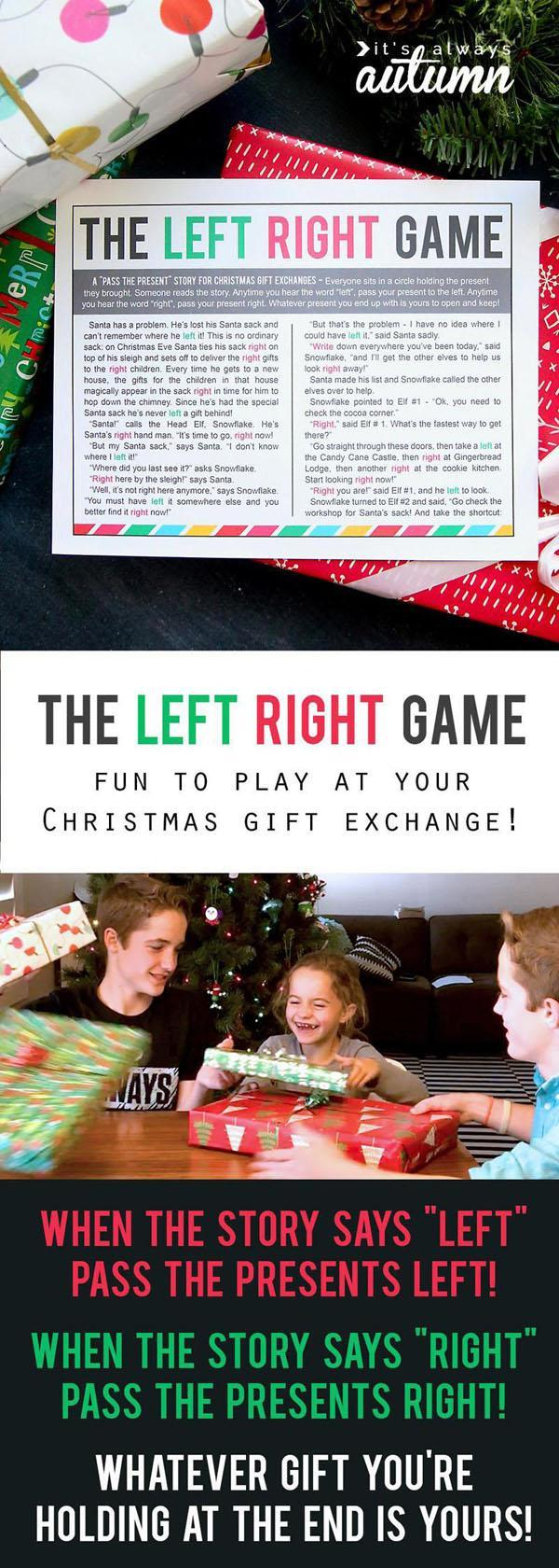 17 THE CHRISTMAS LEFT RIGHT GAME