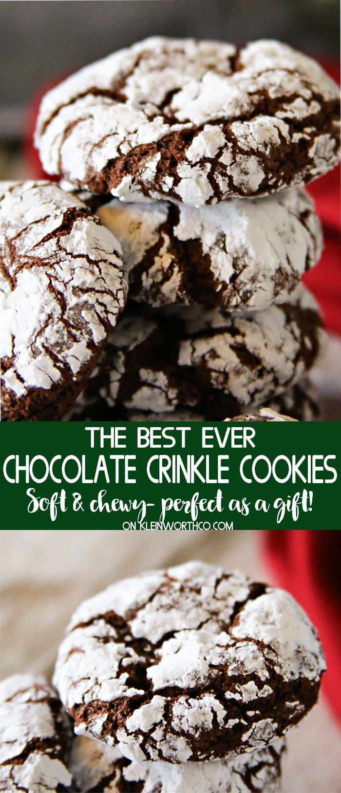 2 Chocolate Crinkle Cookies