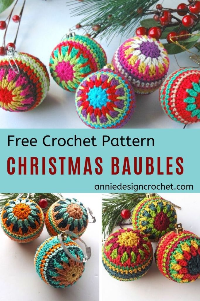 2 Christmas Baubles Free Pattern