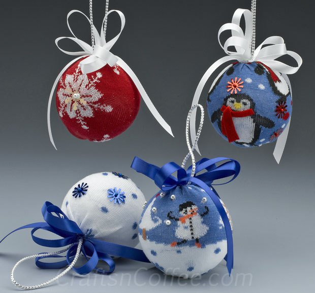 2 Christmas Sock Ornaments