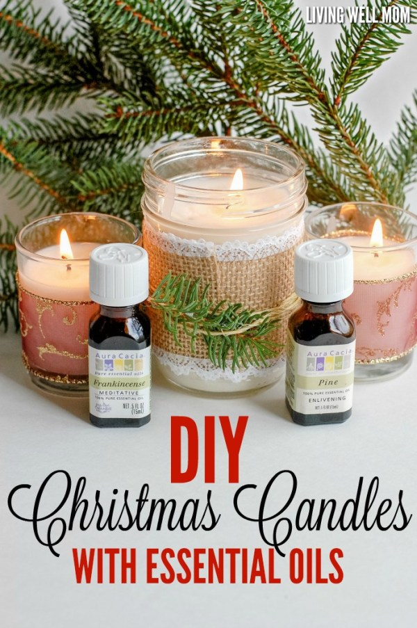 2 DIY Christmas Candles with Essential Oils