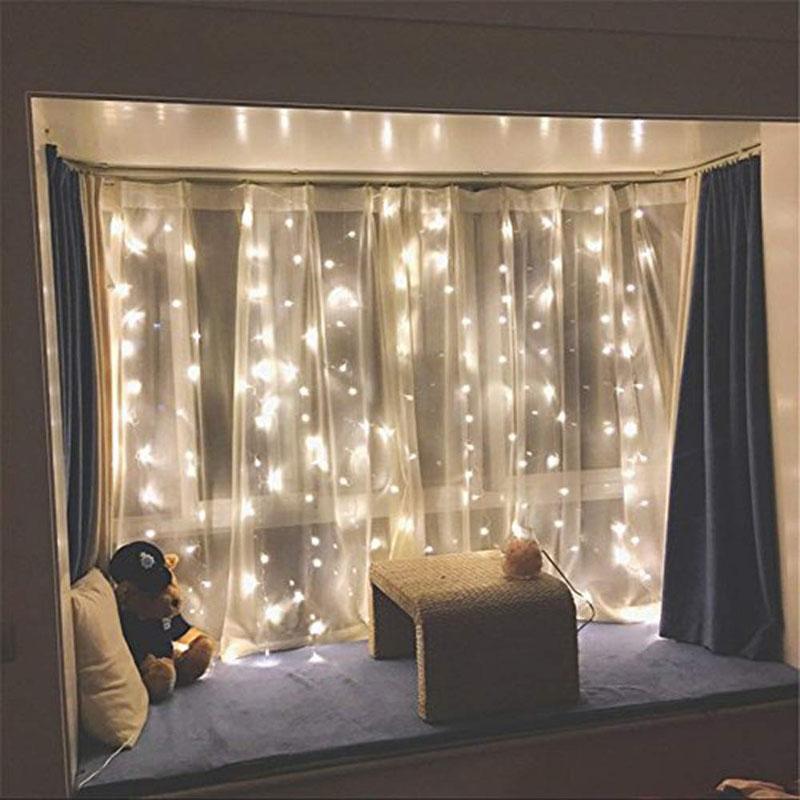 2 Window Curtain String Light