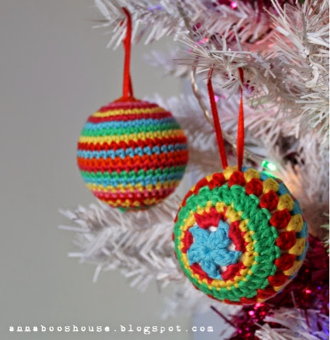 20 CROCHETED Christmas baubles