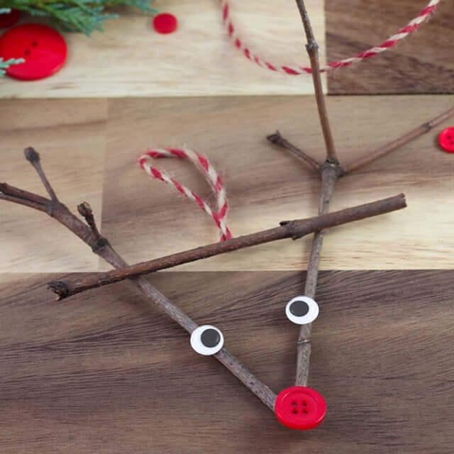 20 Twig Reindeer Ornament