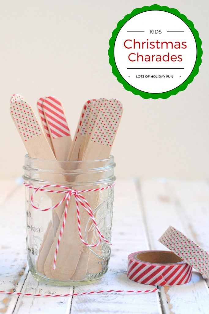 22 Kids Christmas Charades Game