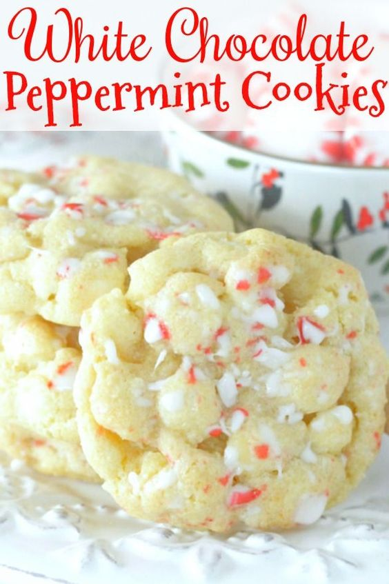 23 White Chocolate Peppermint Cookies