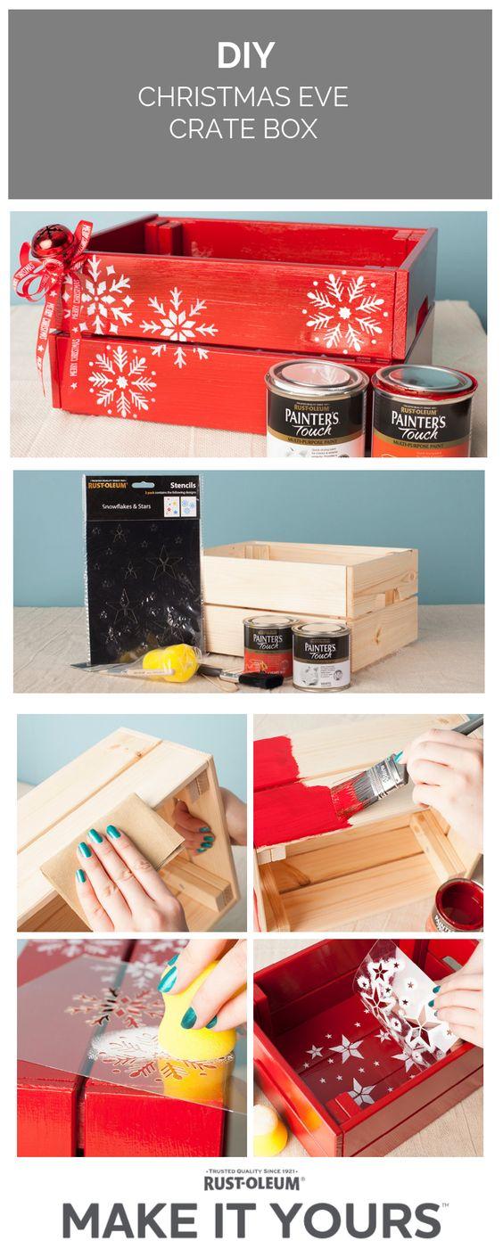 3 DIY Christmas Eve Crate Box