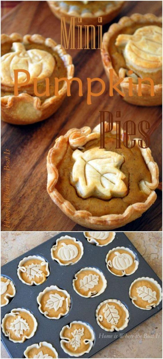 3 Mini Pumpkin Pies