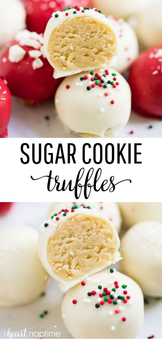3 Sugar cookie truffles