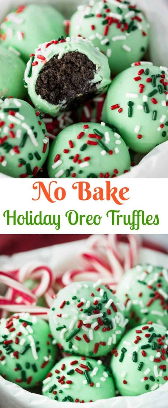 30 No Bake Holiday Oreo Truffles