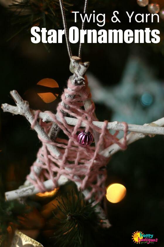 30 Yarn and Twig Star Ornaments
