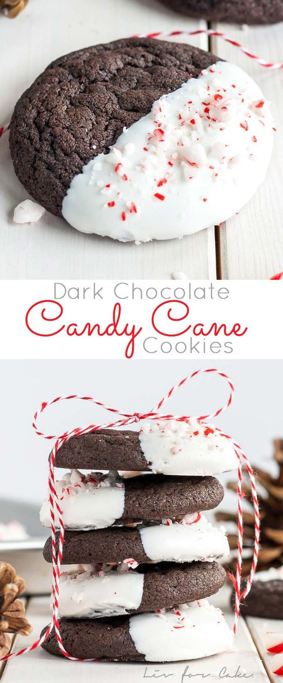 33 Dark Chocolate Candy Cane Cookies