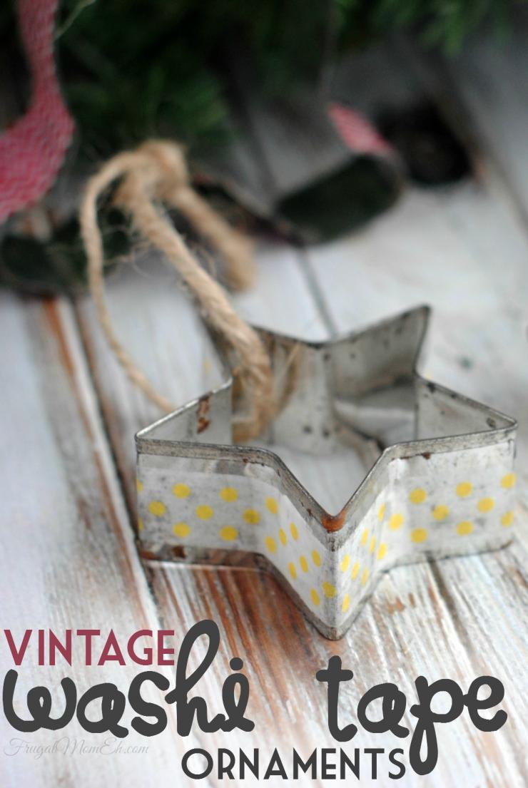 38 Vintage Washi Tape Ornaments