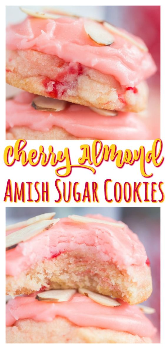 39 Cherry Almond Amish Sugar Cookies