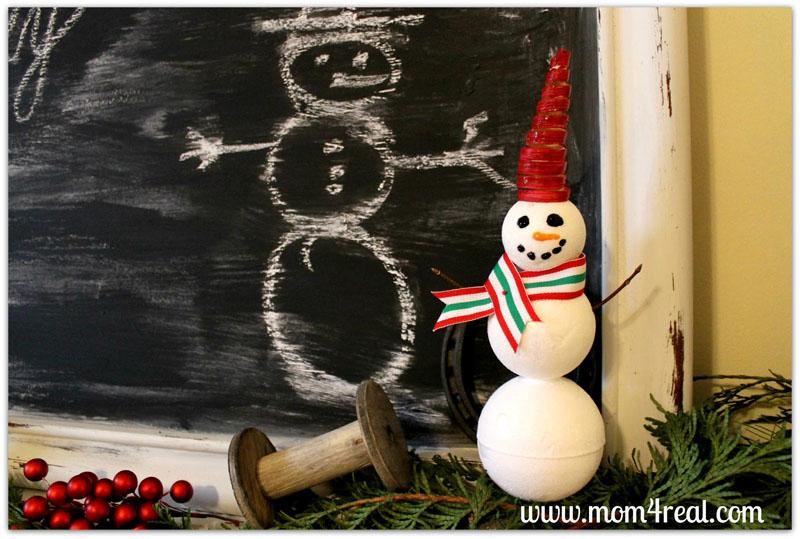 39  Make a Snowman With Styrofoam