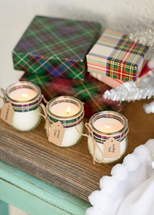 4 Scented Holiday Candles