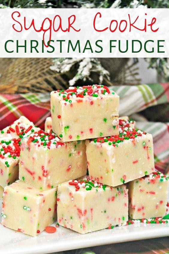 41 Sugar cookie Christmas fudge