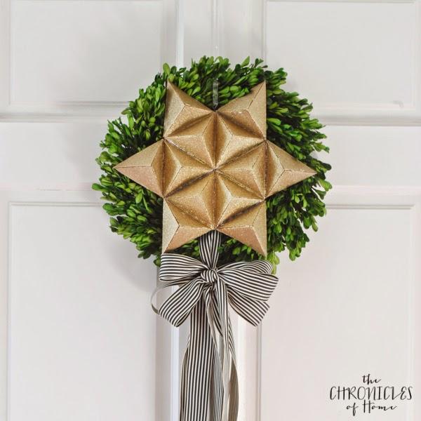 42 3D Christmas Star Wreath from Cardboard