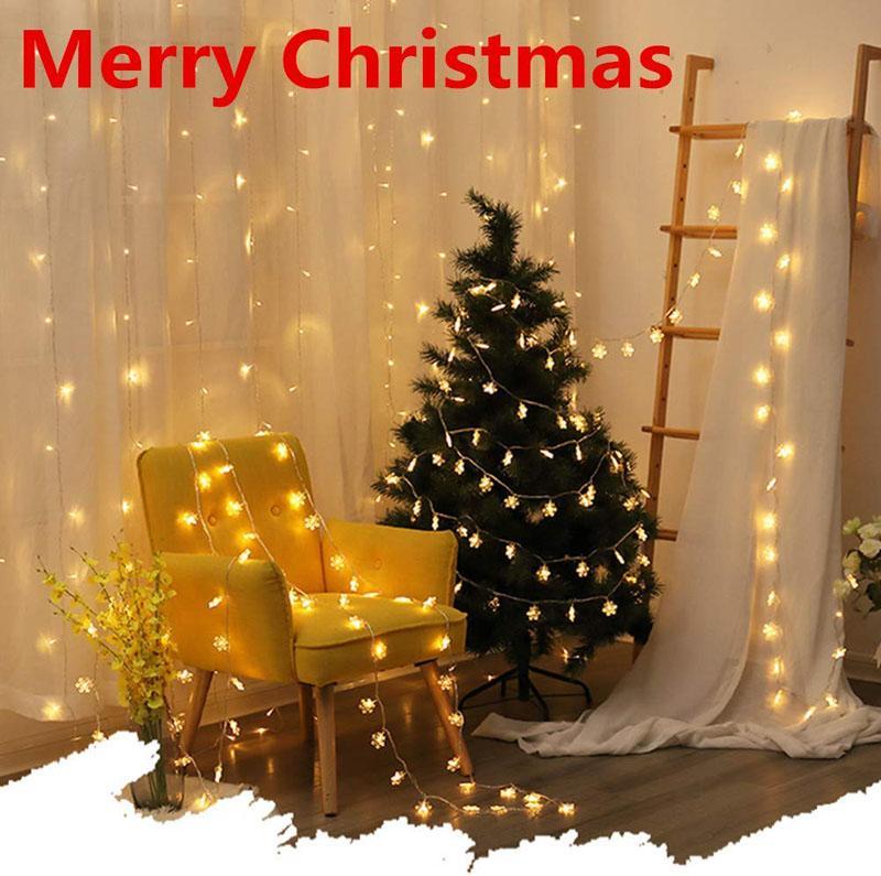 5 Christmas Snowflake String Lights