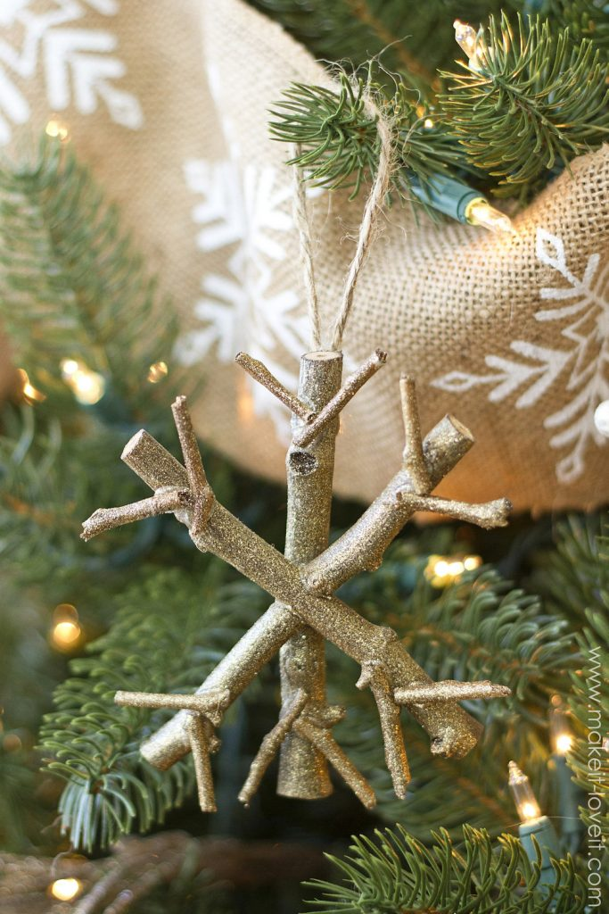 5 Twiggy Snowflake Ornament