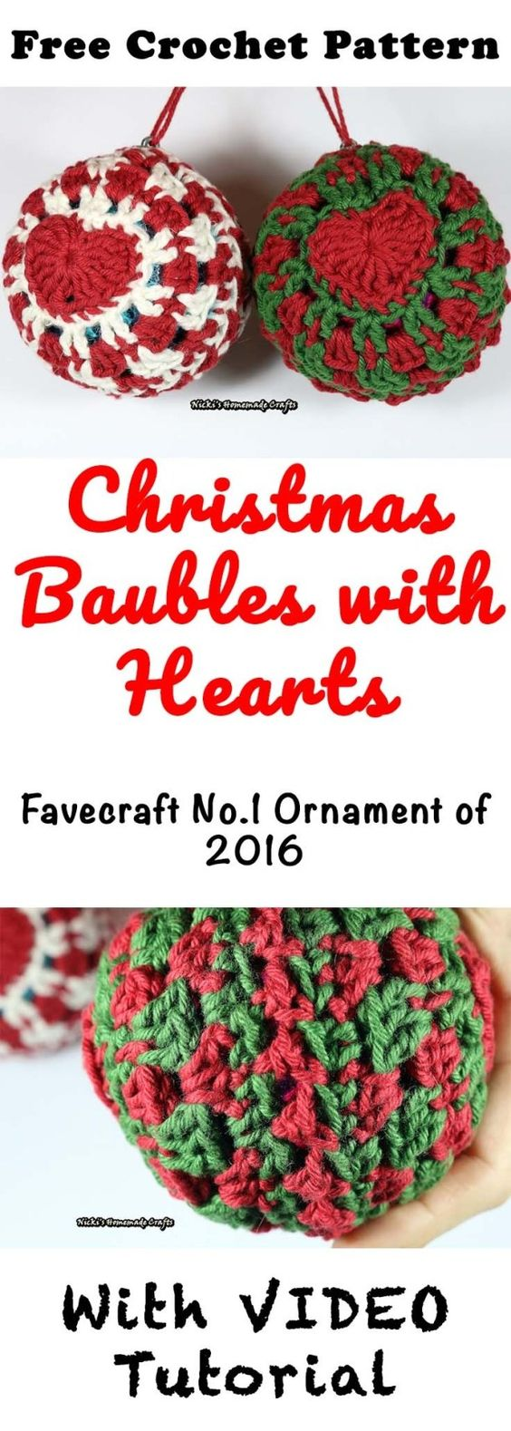 7 Christmas Baubles with Heart