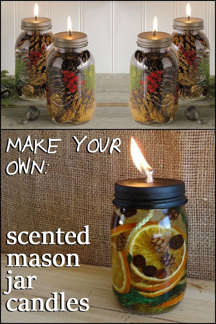 7 Scented Mason Jar Candles