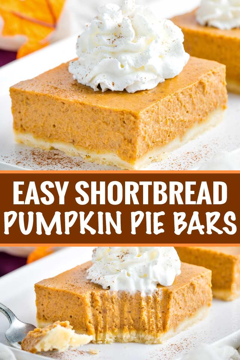8 Easy Shortbread Pumpkin Pie Bars
