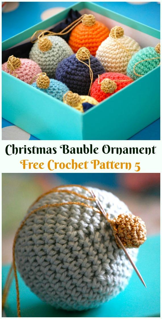 9 Crochet Christmas Bauble