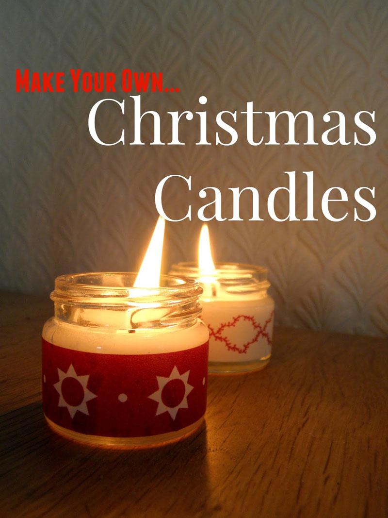 9 DIY CHRISTMAS CANDLES