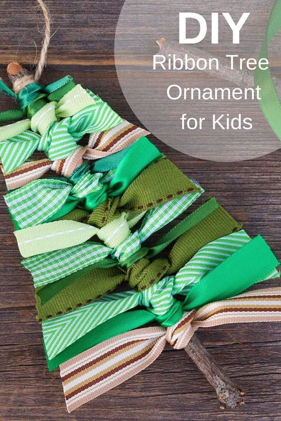 9 Scrap Ribbon Tree Ornaments