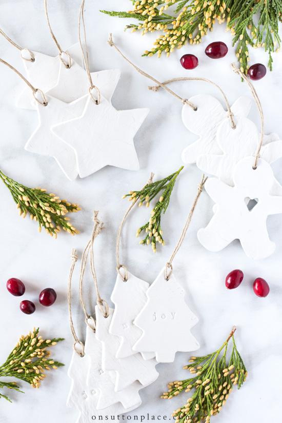 1 DIY Air Dry Clay Christmas Ornaments