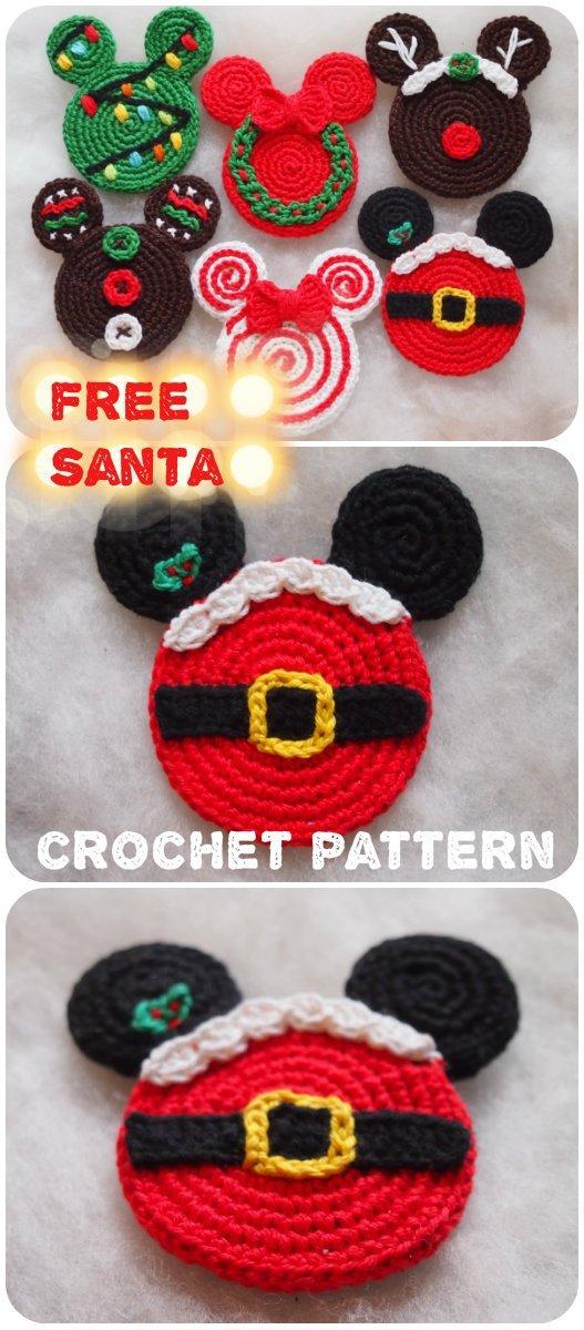 1 Santa Mouse Ears Free Crochet Pattern